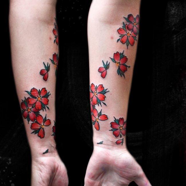 tatuaje flores de cerezo