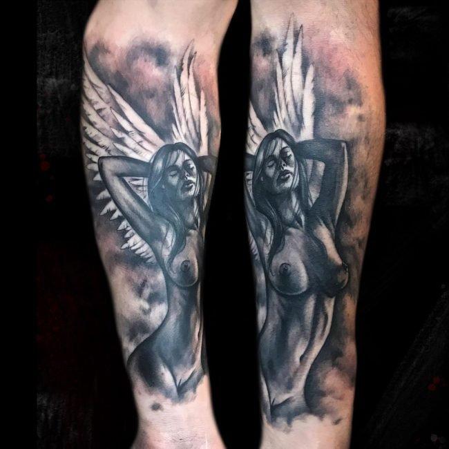 tatuaje angel