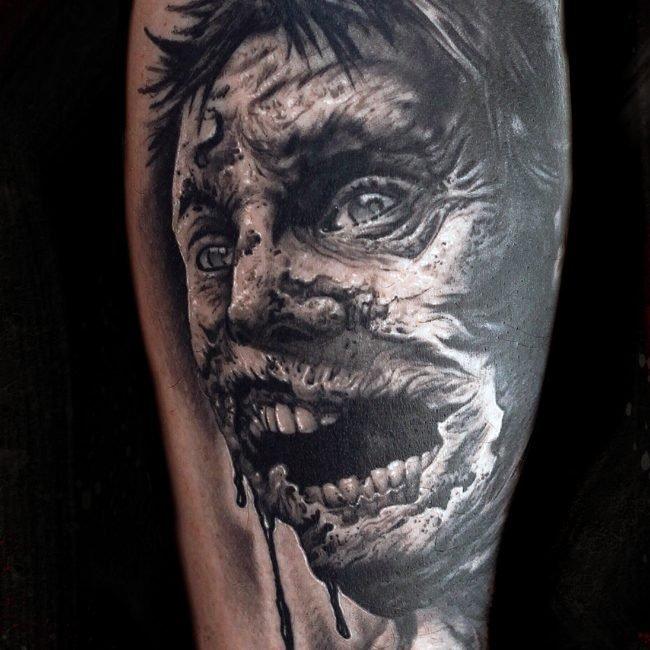 zombie tatuaje