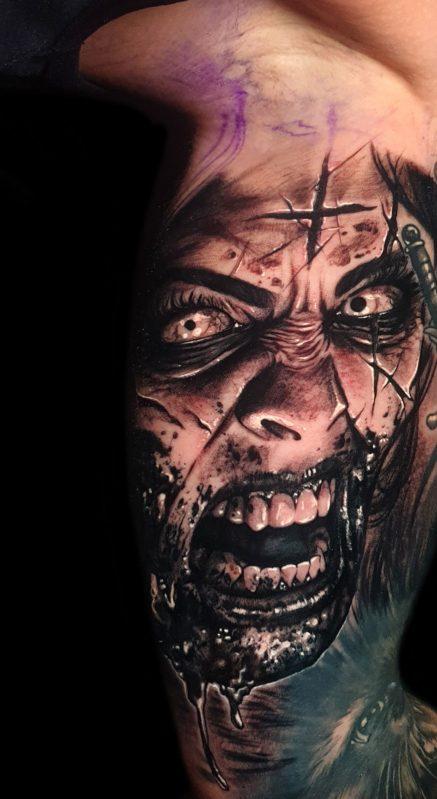 chica zombie tattoo